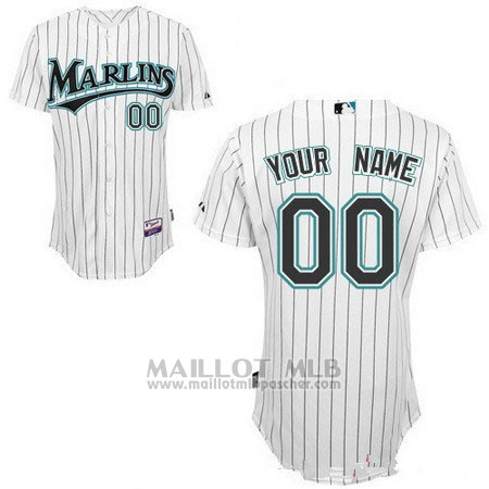 Maillot Baseball Femme Miami Marlins Personnalise 2018 Blanco