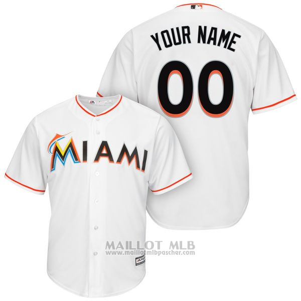 Maillot Miami Marlins Personnalise Blanco