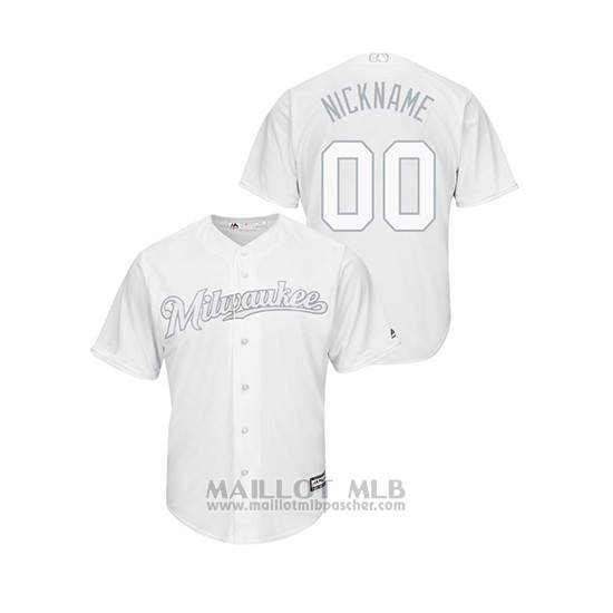 Maillot Baseball Homme Milwaukee Brewers Personnalise 2019 Players Weekend Replica Blanc