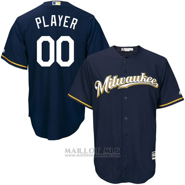 Maillot Milwaukee Brewers Personnalise Bleu