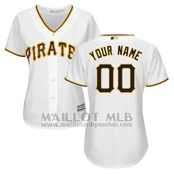Maillot Baseball Femme Pittsburgh Pirates Personnalise Blanco