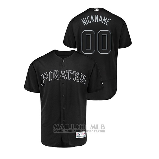 Maillot Baseball Homme Pittsburgh Pirates Personnalise 2019 Players Weekend Authentique Noir