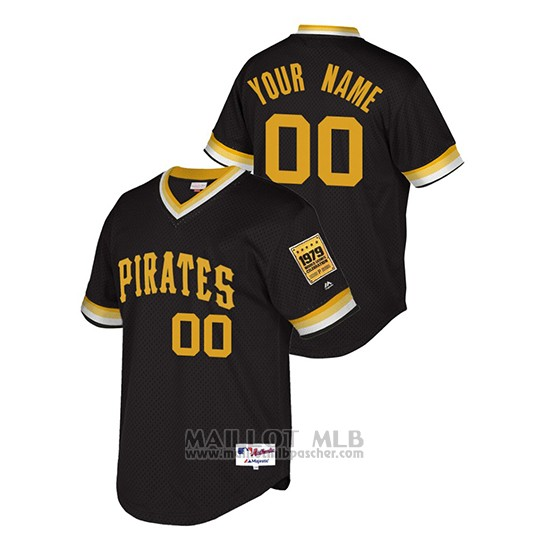 Maillot Baseball Homme Pittsburgh Pirates Personnalise Throwback 1979 W Orld Series Noir