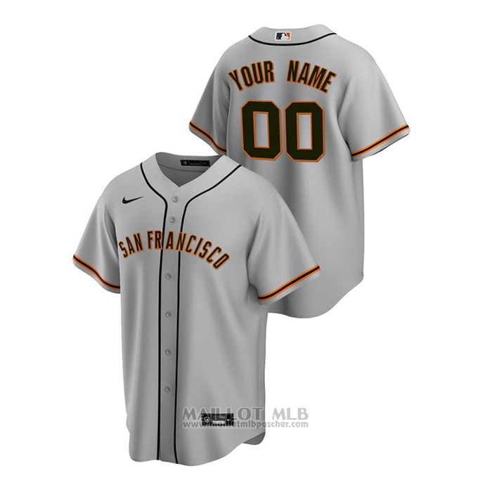 Maillot Baseball Homme San Francisco Giants Personnalise Replique Road Gris