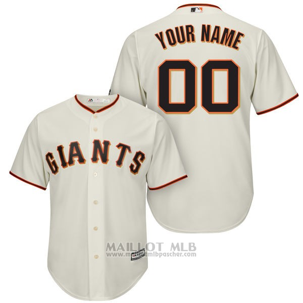 Maillot San Francisco Giants Personnalise Blanco