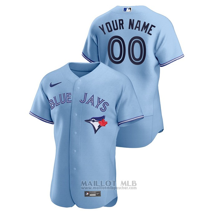Maillot Baseball Homme Toronto Blue Jays Personnalise Authentique 2020 Alterner Bleu