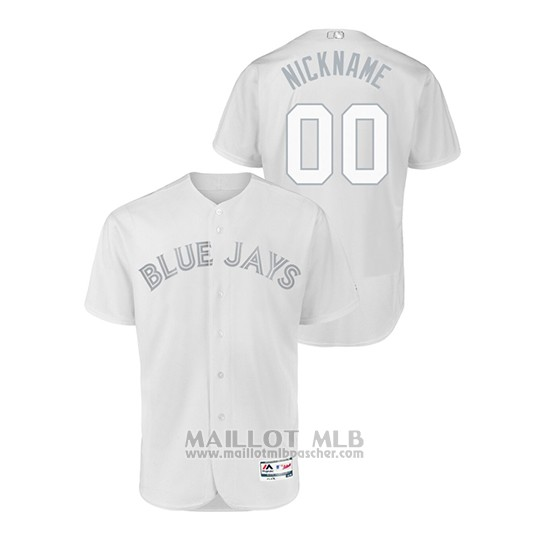 Maillot Baseball Homme T Oronto Blue Jays Personnalise 2019 Players Weekend Authentique Blanc
