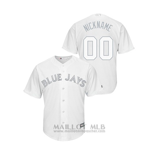 Maillot Baseball Homme T Oronto Blue Jays Personnalise 2019 Players Weekend Replica Blanc