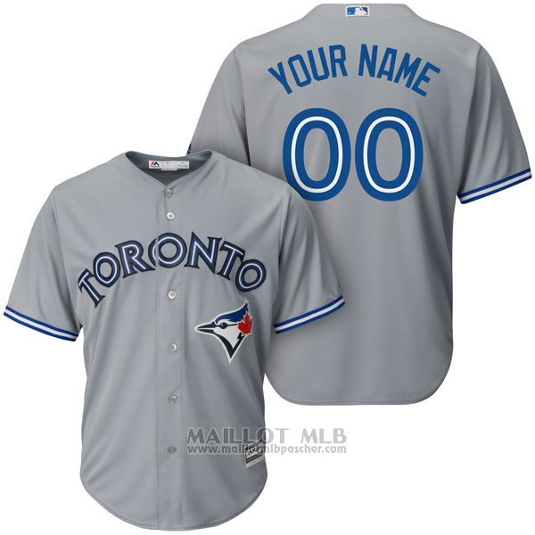 Maillot Toronto Blue Jays Personnalise Gris